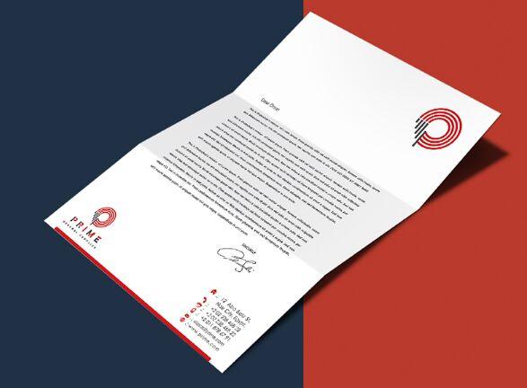 free editable a4 size letterhead psd mockup titanui