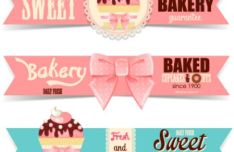 3-sweet-bakery-banners-vector