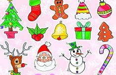 colorful-christmas-vector-icons