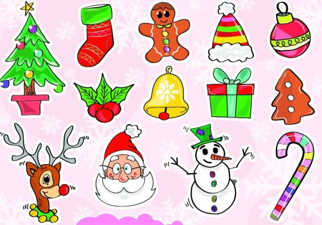 colorful-christmas-vector-icons