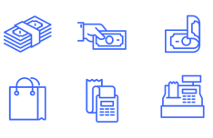 6-cash-flow-vector-icons
