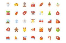 35-flat-colorful-christmas-icons-vector