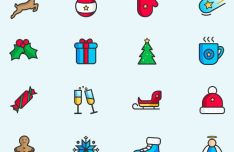 16-minimal-christmas-and-new-year-vector-icons