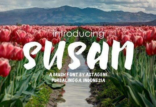 susan-brush-font