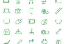 25 Outlined House Icons Vector