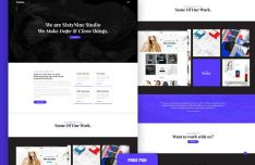 SixtyNine Agnecy Web Template PSD