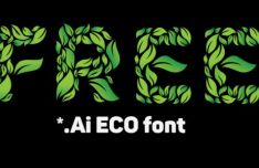 Green ECO Vector Font
