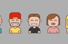 Smiling Avatar Icons Vector