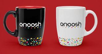 Realistic White Black Coffee Mug PSD Template