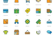20 Colorful Shopping Icons (PNG+SVG+Vector)