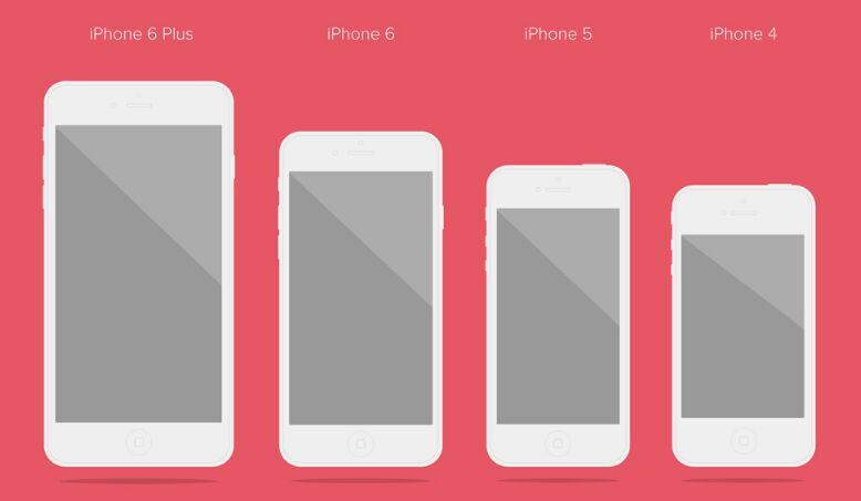 Free Flat iPhone Vector & PSD Mockups - TitanUI