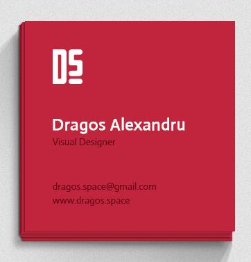 Flat Square Business Card PSD Template