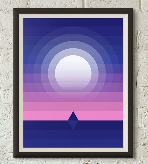 Wall Moonlight Poster Vector