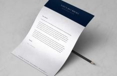 Minimal A4 Letter & Resume Template (PSD+Vector)