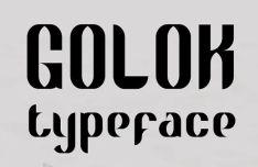Golok Font