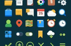 30 Flat UI Icons (Ai+Sketch)