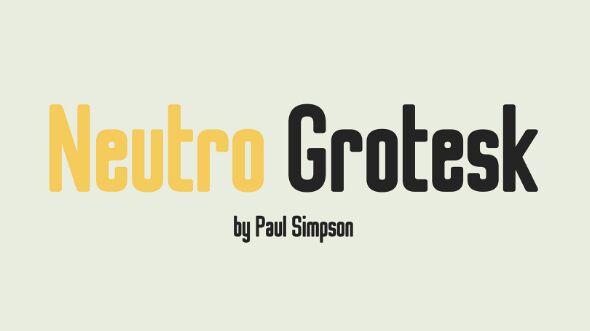 Neutro Grotesk Font