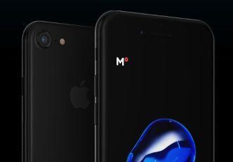 High Resolution iPhone 7 (Jet Black) Template