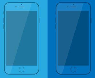 iPhone 7 Flat Mockup Vector