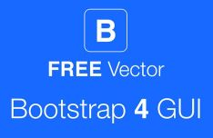 Bootstrap 4 GUI Pack Vector
