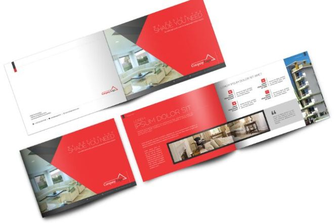 Business Landscape Brochure PSD Mockup