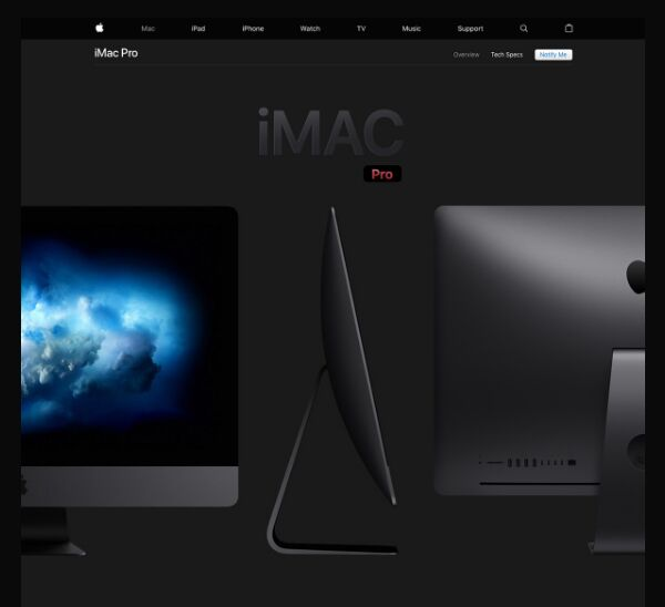 Space Grey Landing Page Template PSD