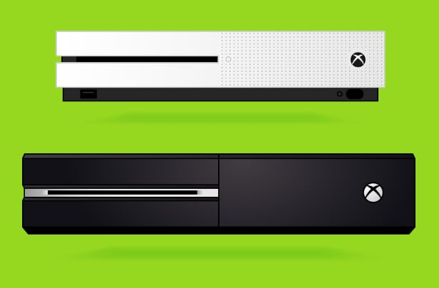 Free Xbox & Xbox One Vector Templates - TitanUI Xbox One Vector