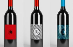 Sleek Wine Bottle PSD Mockup