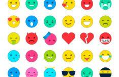 30 Minimal Emoji Icons Vector
