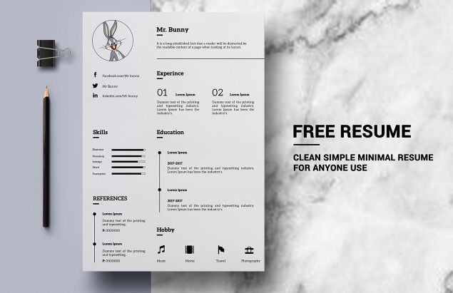 free clean simple resume template psd titanui
