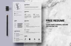 Clean Simple Resume Template PSD