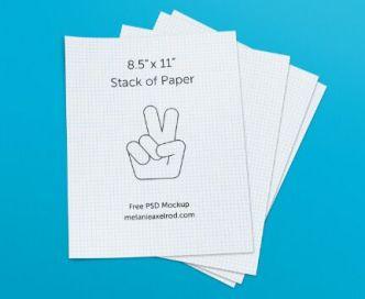 Paper Stack PSD Mockup