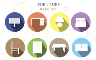 8 Furniture Icons PSD