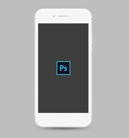Minimal Flat Android Phone PSD Mockup