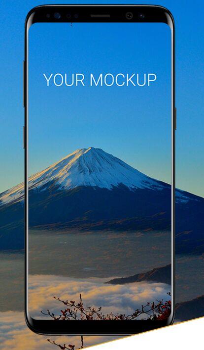 Standing Samsung Galaxy S8 PSD Mockup