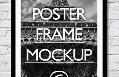 Wall Poster & Photo Frame PSD Mockup