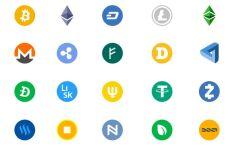 20 Cryptocoin Icons Vector