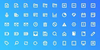 50 Bold Line UI Icons (AI+PSD)