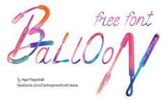 Balloon Brush Font (With Patterns)