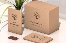 Isometric Packaging Box Mockup