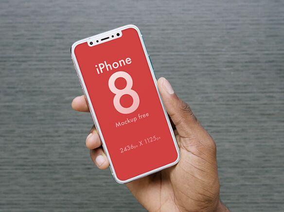 3 Realistic iPhone 8 Mock-ups PSD