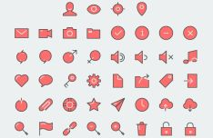 40+ UI Icons (EPS+PNG+Sketch)