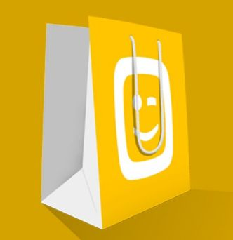 Editable Flat Shopping Bag PSD Mockup