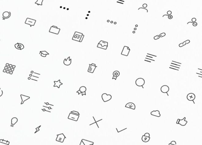 Iconography Line Icon Set Vector