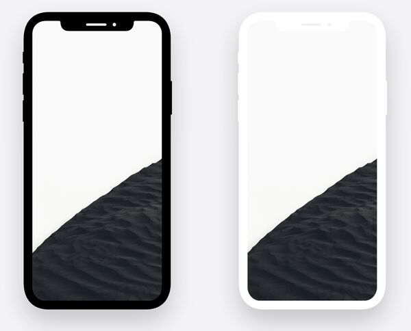 Minimal Dark Light iPhone X PSD Mockups
