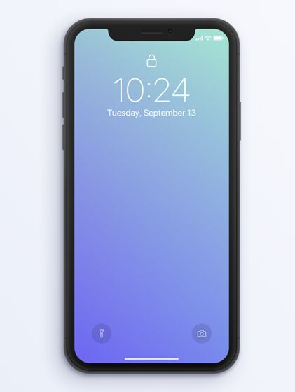 iPhone X Lock Screen Mockup PSD
