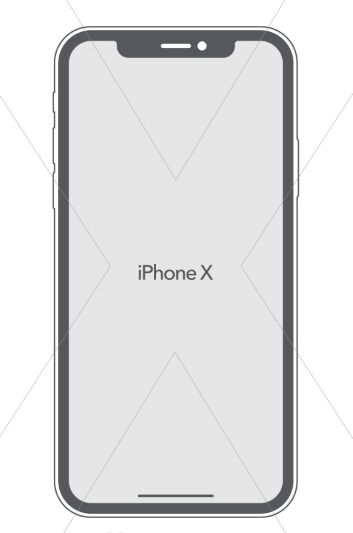 Flat iPhone X Vector Template
