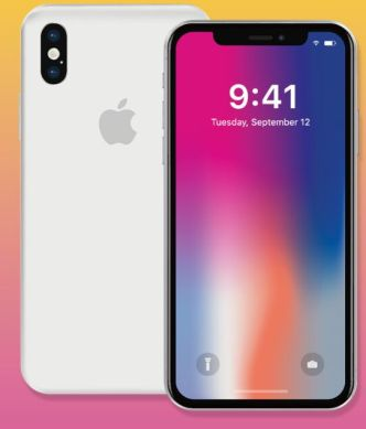 iPhone X (Front & Back) Vector Template