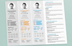 Minimal CV Resume & Cover Letter PSD Mockups