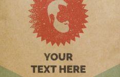 Vintage Paper Logo PSD Mockup